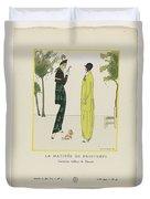 Gazette Du Bon Ton 1914   No  4  Pl  36  La Matinee De Printemps  Costumes Tailleur De Doucet  J  M Duvet Cover