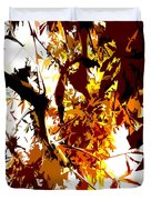 Gazing Into The Autumn Trees Duvet Cover