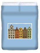 Gdansk Buildings Duvet Cover