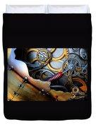 Geared For Art Duvet Cover by Bob Christopher