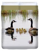 Geese And Goslings Duvet Cover