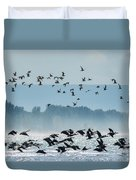 Geese And Gulls Duvet Cover