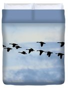 Geese Flying South Duvet Cover