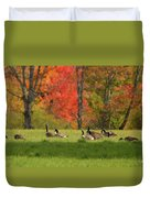 Geese In Autumn Duvet Cover