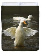 Geese In The Water Duvet Cover