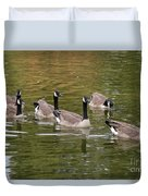 Geese On Pond Duvet Cover