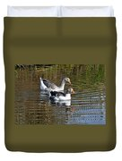 Geese On The Canal   Duvet Cover