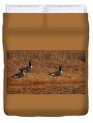 Geese On The Salt Marsh  Duvet Cover