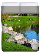 Geese Retreat Duvet Cover