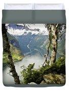 Geiranger Fjord Duvet Cover