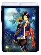Geisha - Combining Innocence And Sophistication Duvet Cover