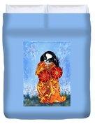 Geisha Chin Duvet Cover
