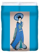 Geisha With Parasol Duvet Cover