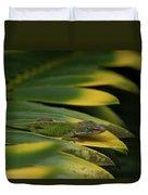 Gekco On Palm  Leaf Duvet Cover