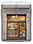 Gelateria In Assisi Duvet Cover