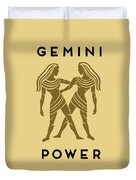 Gemini Power Duvet Cover by Judy Hall-Folde