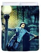 Gene Kelly, Singing In The Rain Duvet Cover