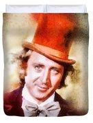 Gene Wilder, Vintage Actor Duvet Cover