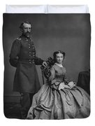 General Custer And His Wife Libbie Duvet Cover