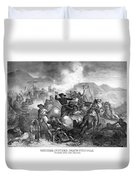 General Custer's Death Struggle  Duvet Cover by War Is Hell Store
