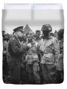 General Eisenhower On D-day  Duvet Cover