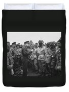 General Eisenhower On D-day  Duvet Cover by War Is Hell Store