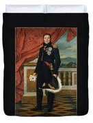 General Etienne  Maurice Gerard Jacques  Louis David  1816 Duvet Cover