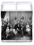 General Grant And His Family Duvet Cover