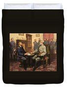 General Grant Meets Robert E Lee  Duvet Cover by English School