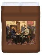 General Grant Meets Robert E Lee  Duvet Cover