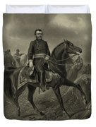 General Grant On Horseback  Duvet Cover