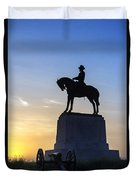 General Howard Monument At Cemetery Hill Duvet Cover