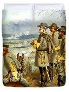 General Lee At The Battle Of Fredericksburg Duvet Cover