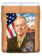 General Mattis Portrait Duvet Cover