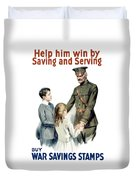 General Pershing - Buy War Saving Stamps Duvet Cover