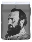 General Stonewall Jackson Profile Duvet Cover