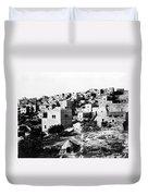 General View Of Bethlehem 1800s Duvet Cover