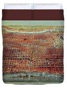 General View Of Philadelphia Duvet Cover