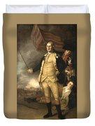 General Washington At The Battle Of Princeton Duvet Cover