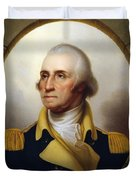 General Washington - Porthole Portrait  Duvet Cover by War Is Hell Store