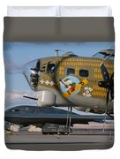 Generations B-17 And B-2 Duvet Cover