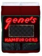 Gene's Hamburgers  Duvet Cover