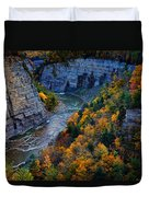Genesee River Gorge II Duvet Cover