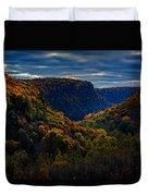 Genesee River Gorge Duvet Cover