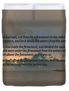 Genesis 1 6-8 Let There Be A Firmament In The Midst Of The Waters Duvet Cover