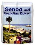 Genoa, Italian Riviera, Coast Duvet Cover