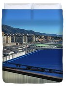 Genova Town Landscape From Abandoned Office Building Roof Duvet Cover