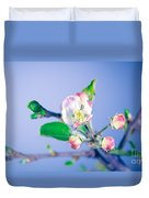 Gentle Apple Tree Flowers Duvet Cover