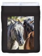 Gentle Face Of A Wild Horse Duvet Cover