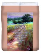 Gentle Journey With Bible Verse Duvet Cover